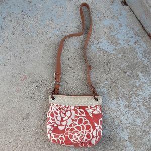 Fossil floral crossbody purse